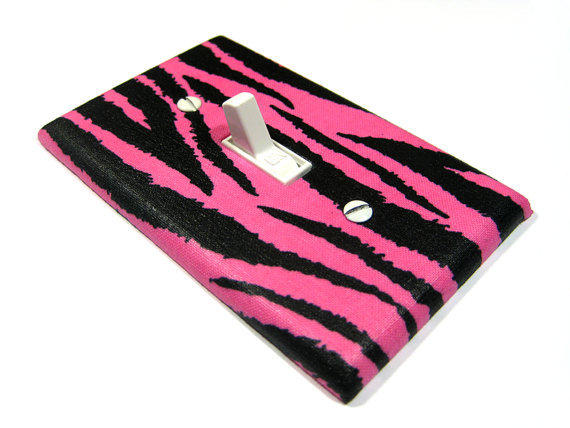 hot pink and black zebra stripes bedroom from modern switch