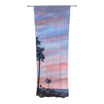 "Rosie Brown ""Florida Sunset"" Palm Tree Decorative Sheer Curtain"