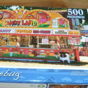 Candy Land Amusement Park 500 Piece Jigsaw Puzzle