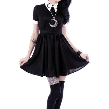 Gothic Lolita Gypsy Witch Moon Little Black Mini Dress