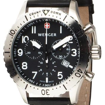 Wenger 77005 Men's AeroGraph Swiss Made Black Dial Chrono Watch
