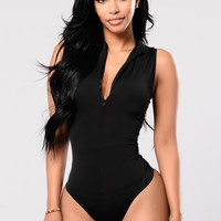 Stone Cold Bodysuit - Black