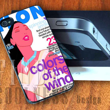 Disney Characters Pocahontas in Magazine - Print Custom Case - Rubber or Plastic - iPhone 4 or 4s / 5, Samsung S3 / S4, iPod 4 /5