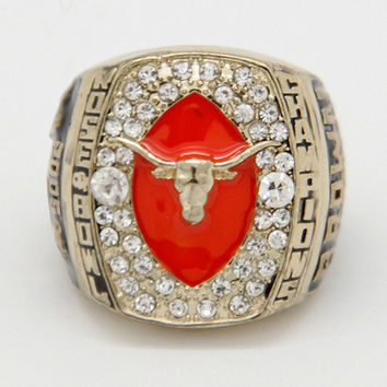 Rose Bowl  2005 NCAA University of Texas Longhorns Championship Rings Replica men fashion jewel