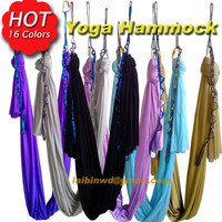 16 colors choice 5m/sets  Aerial Flying Anti-gravity Yoga Hammock Swing  Yoga body building workout fitness equipment freedrop