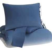Aracely Queen Comforter Set - Blue - Free Shipping!