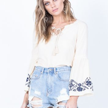 Oceanside Boho Blouse