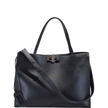 TOM FORD Natalia Leather Turn-Lock Tote Bag