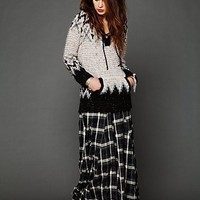 Free People Plaid Flannel Maxi Skirt