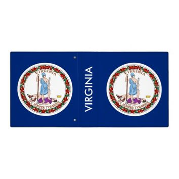 Binder with Flag of Virginia USA