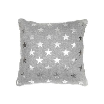 Metallic Star Sweatshirt Pillow