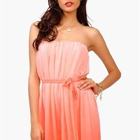 Ombre Dress - Coral