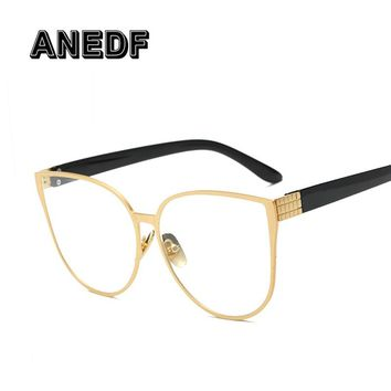 f0da2157c9 ANEDF Cat Eye Eyewear Frames Men Clear Lens Glasses Frame Female