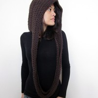 Scoodie Hooded Cowl  Available in 9 Colors by KnotaGeek on Etsy
