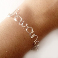 name bracelet - custom made to order - you choose the word - word bracelet - wire wrapped