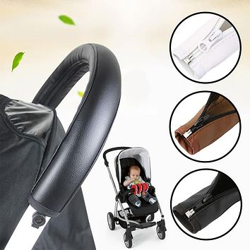 Travel Baby Stroller Pram PU Leather Protective Case Accessories Armrest Cover For Arm Covers Handle Wheelchairs High Quality