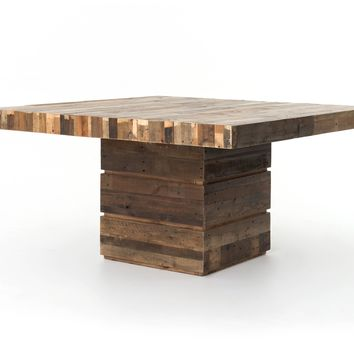 "Bellona Reclaimed Wood 58"" Square Dining Table"