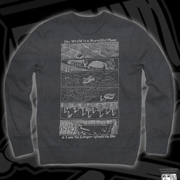 TWORLD SCENERY CREW ON DARK HEATHER GREY
