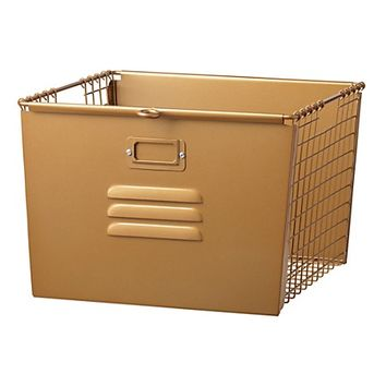 Saved by the Cube Bin Locker Basket (Gold) | The Land of Nod