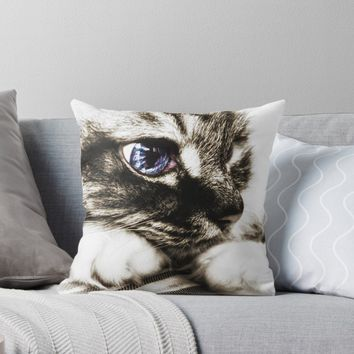 'Hello there, Blue Eyes.. ' Throw Pillow by timeslides