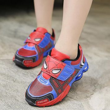 New Cartoon Spiderman Kids Boys Sports Sneakers Shoes For Children Kids Boys Casual Breathable Running Shoes Chaussure 26-37