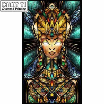5D Diamond Painting Abstract Egyptian Goddess Kit