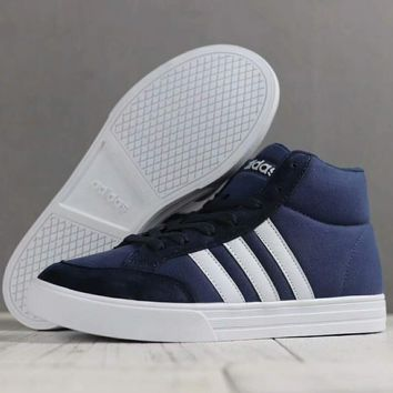 ADIDAS Women Men Fashion Casual High Tops Running Sport Casual Shoes Sneakers Blue G-SSRS-CJZX