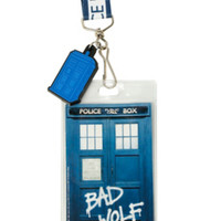 Doctor Who Bad Wolf TARDIS Lanyard