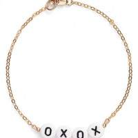 Ryan Porter Beaded Message Chain Bracelet | Nordstrom