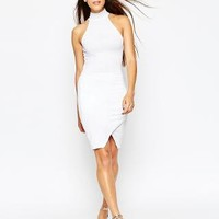 ASOS | ASOS Halter Asymmetric Body-Conscious Dress at ASOS