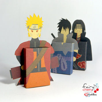 Naruto Sasuke Itachi emotibox - Customized geek paper box for season greetings, birthday wishes, expressing emotions, anime greetings