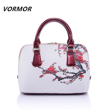 VORMOR 2016 New fashion flowers ladies bags printing women messenger bags female handbag bags