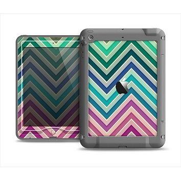The Vibrant Colored Chevron Layered V4 Apple iPad Mini LifeProof Nuud Case Skin Set