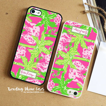 Elephant Pink Pattern-Lilly Pulitzer iPhone Case Cover for iPhone 6 6 Plus 5s 5 5c 4s 4 Case