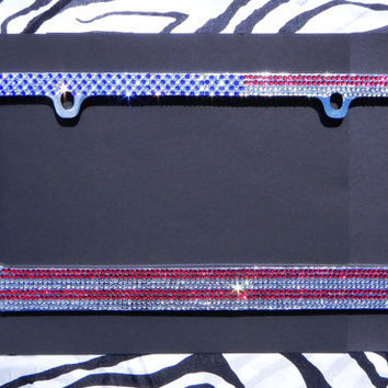 New Purple Zebra Print Car Truck License Plate Frame /& Chrome Screw Caps Set