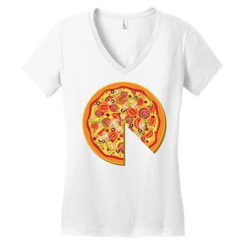 pizza dad Women's V-Neck T-Shirt