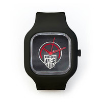 USWNT Gunmetal Watch in a Black Strap