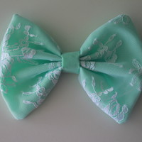 Mint Green Bow w/Lace