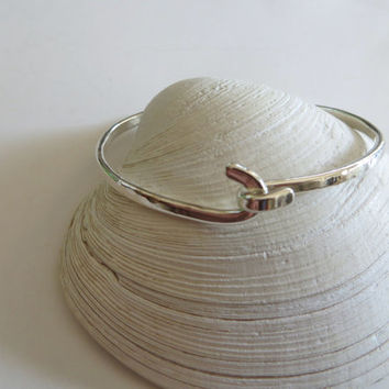 Sterling Silver Bracelet Bangle Hook and Latch Handcrafted Sterling Silver jewelry Friendship Bangle