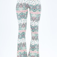 Stacked Print Flare Pant