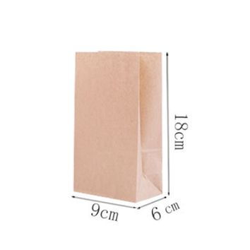 10pcs/Set Kraft Paper Bag Brown Party Wedding Handmade Bread Cookies Gift Bags Biscuits Packaging Wrapping Supplies