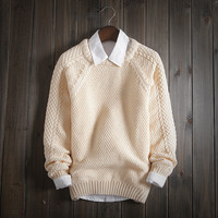 Mens Warm Winter Slim Fit Comfortable Soft Knit Sweater