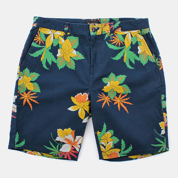 Obey Working Man Ii Shorts - Hawaiian Navy at Urban Industry