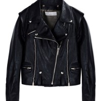 Golden Goose Deluxe Leather Biker Jacket - Black Leather Zip Jacket