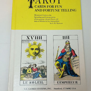 Tarot Cards for Fun and Fortune Telling Book Published 1988 Hardcover SR Kaplan Clean and Complete Edition No writing Soaring Hawk Vintage
