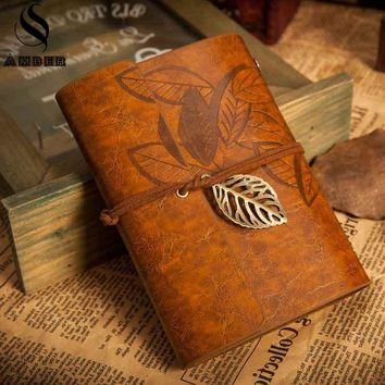 Genuine Leather Vintage Leaf Journal