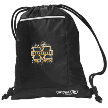 Michigan Wolverines Splatter Logo OGIO Pulse Cinch Pack