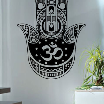 Hamsa Hand Version 13 Design Decal Sticker Wall Vinyl Decor Art