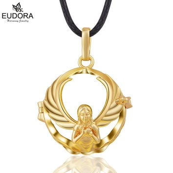 Retail Eudora Harmony Ball Cage 20mm Angel Mother Maternity Jewelry Gold Plated Lucky Love Locket Cage Pendant Gift For Pregnant