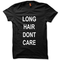 Long Hair Don't Care One direction Shirt Harry Styles Shirt Logo Unisex T-Shirt Tee Size S,M,L,XL (L-1)